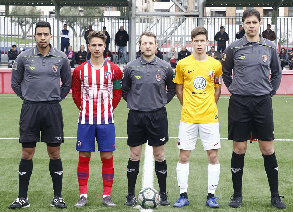 Temporada 18/19   Atlético de Madrid - UD Santa Marta   Capitanes