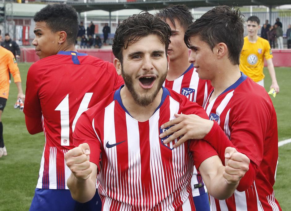 Temporada 18/19   Atlético de Madrid - UD Santa Marta   Salido