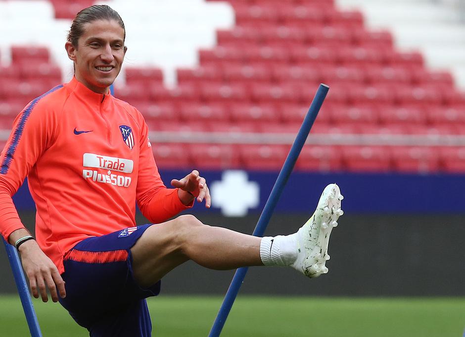 Temporada 18/19. Entrenamiento en el Wanda Metropolitano. Filipe durante el entrenamiento.