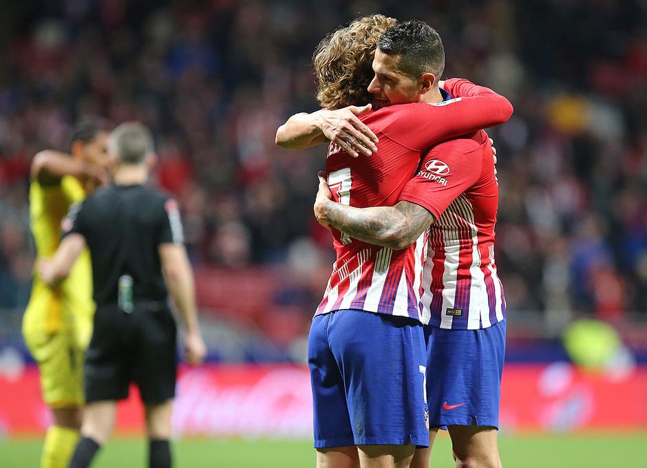Temporada 18/19 | Atlético de Madrid - Girona | Griezmann y Vitolo celebración
