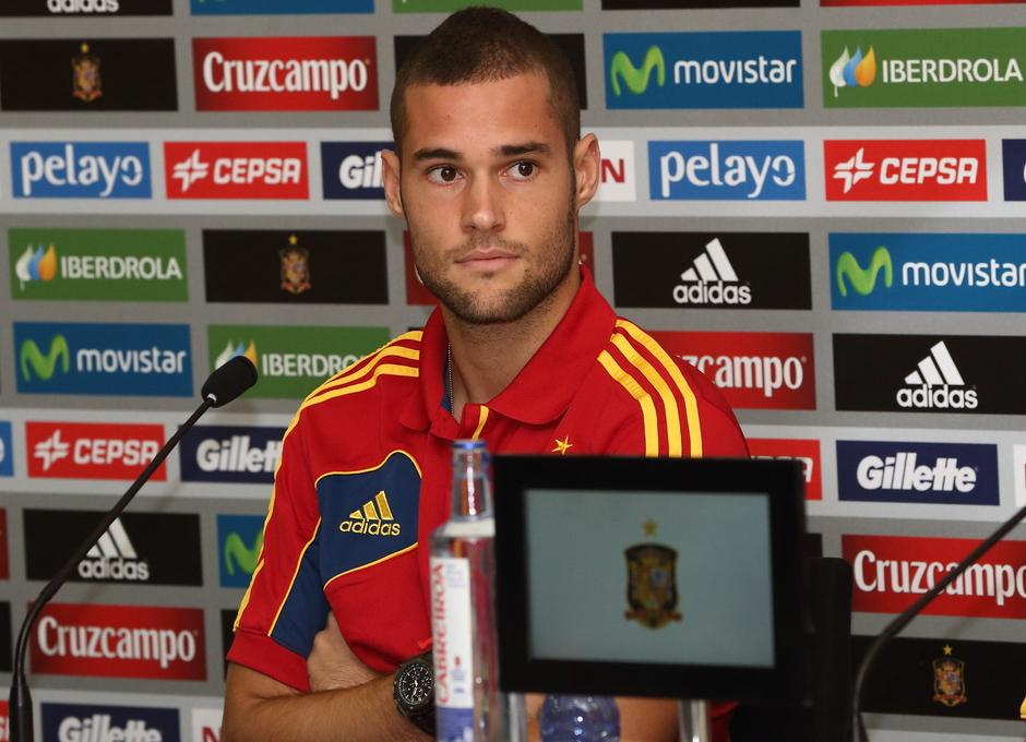 Mario Suárez, en rueda Prensa  con la selección absoluta, celebrada el miércoles 4 de septiembre en La Ciudad del Fútbol de Las Rozas