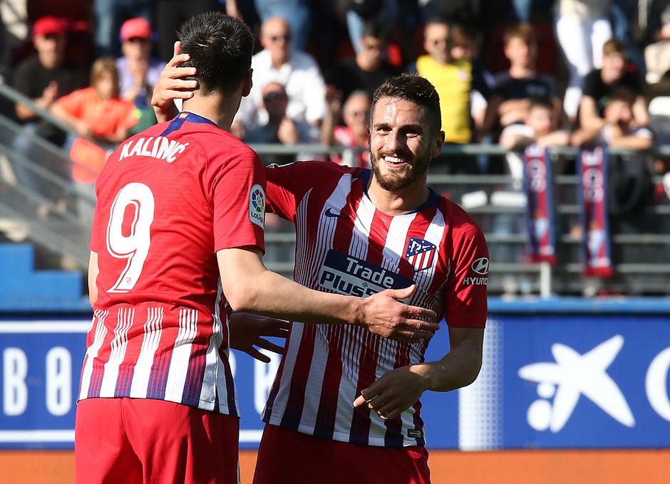 Temporada 18/19 | Eibar - Atlético de Madrid | Koke y Kalinic