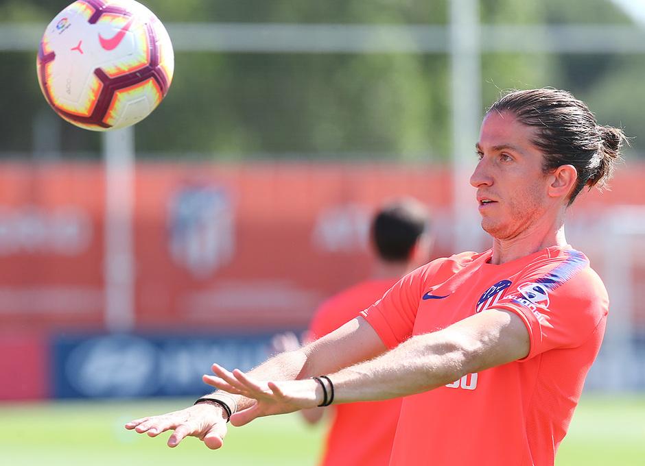 Temporada 18/19. Entrenamiento en la ciudad deportiva Wanda. Filipe durante el entrenamiento.
