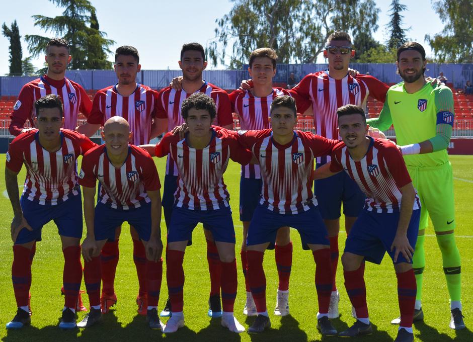 Temporada 18/19 | Atlético de Madrid B - Rápido de Bouzas | Once inicial