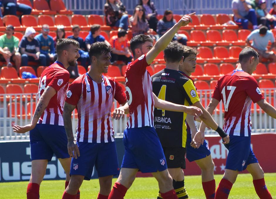 Temporada 18/19 | Atlético de Madrid B - Rápido de Bouzas | Gol Rubén Fernández