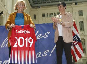 Temp. 18-19 | Visita Femenino Ayuntamiento | Carmena y Lola Gallardo