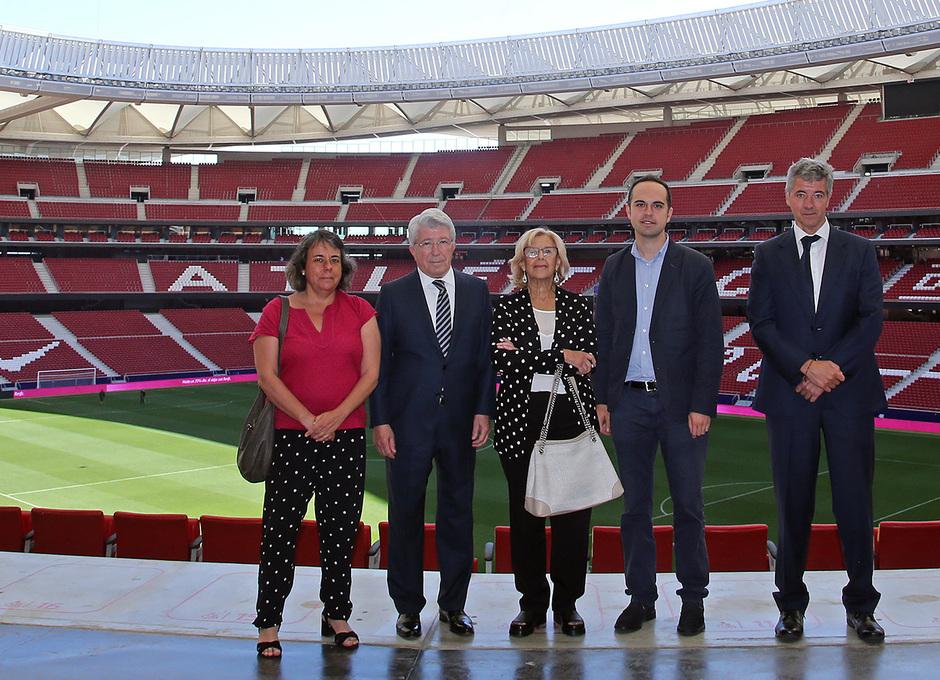 temporada 18/19. Visita Carmena Wanda Metropolitano. Miguel Ángel Cerezo