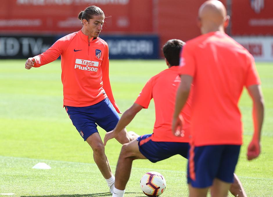 Temporada 18/19 |Entrenamiento en la ciudad deportiva Wanda. Filipe durante el entrenamiento