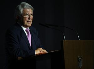 Temporada 2019/20. Presentación de João Félix en el auditorio del Wanda Metropolitano. Enrique Cerezo
