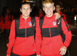 Temp. 19-20 | Llegada Atlético de Madrid Femenino a Raleigh | Ovdiychuk y Pantsulaia