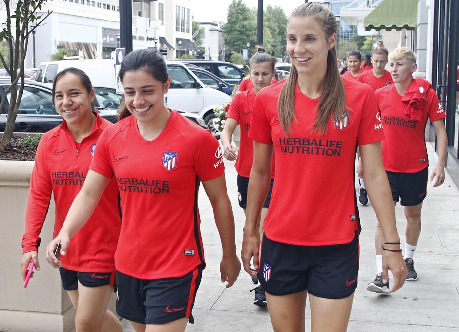 Temporada 19/20   Entrenamiento del Atlético femenino en Raleigh   Kylie, Chidiac y Charlyn