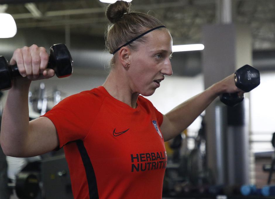 Temporada 19/20 | Entrenamiento del Atlético femenino en Raleigh | Sari Van Veenendaal