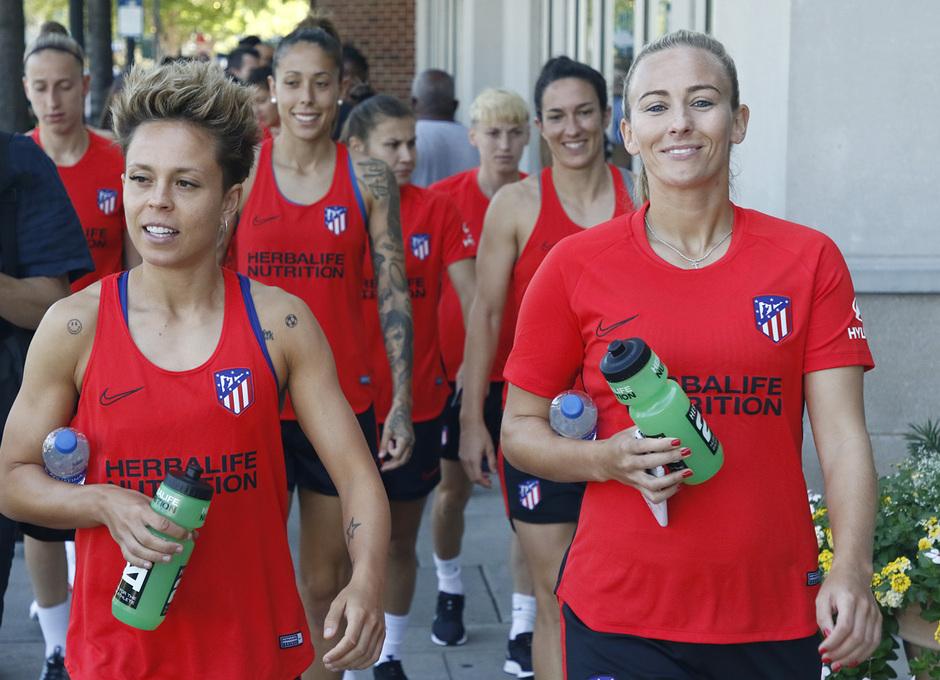 Temporada 19/20 | Entrenamiento del Atlético femenino en Raleigh | Amanda y Toni Duggan