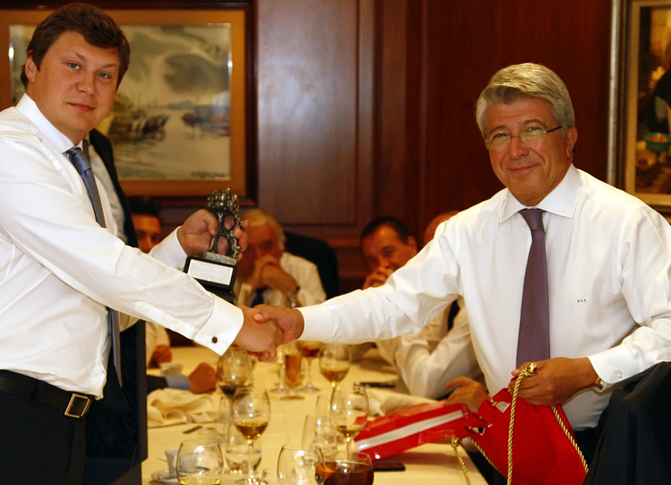 Temporada 13/14. Comida de directivas. Atlético de Madrid-Zenit