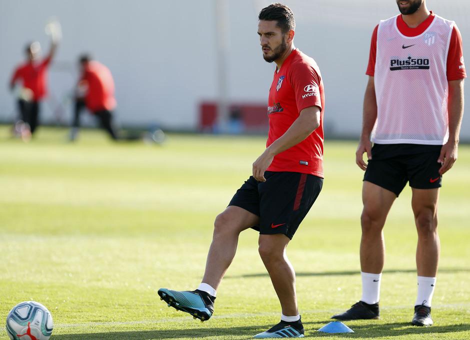 Entrenamiento en la Ciudad deportiva Wanda Atlético de Madrid 03-09-2019. Koke.