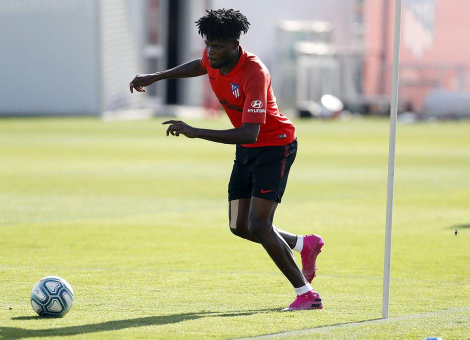 Entrenamiento en la Ciudad deportiva Wanda Atlético de Madrid 03-09-2019. Thomas.