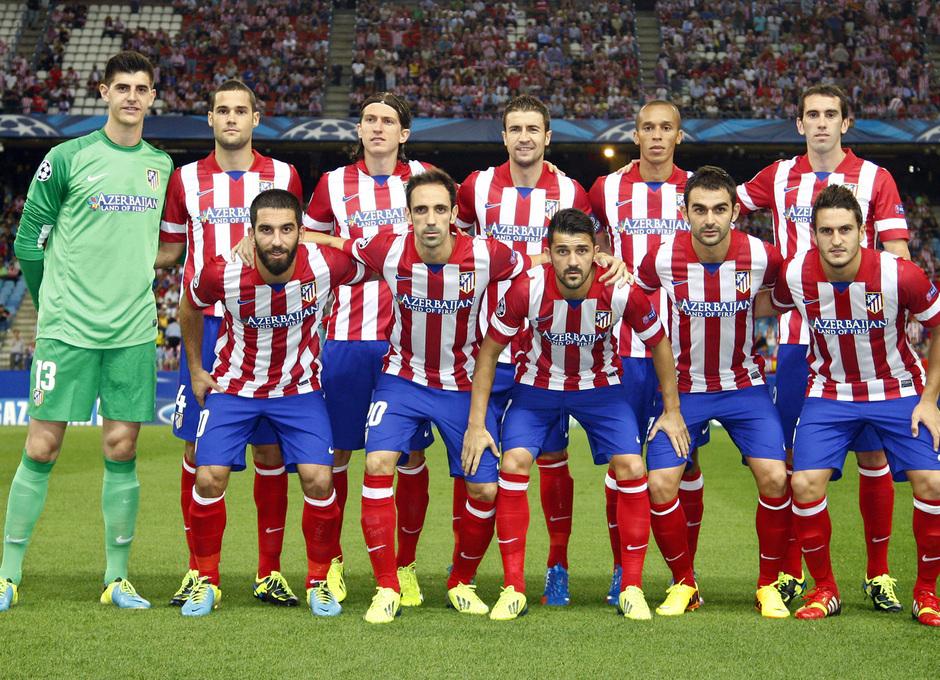 Temporada 2013/2014 Atlético de Madrid - Zenit Once inicial para el partido de Champions ante el Zenit