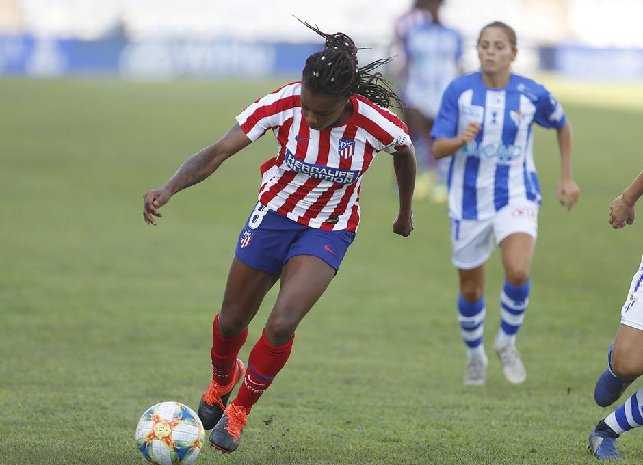 Temp. 19/20. Sporting de Huelva - Atlético de Madrid Femenino. Ludmila