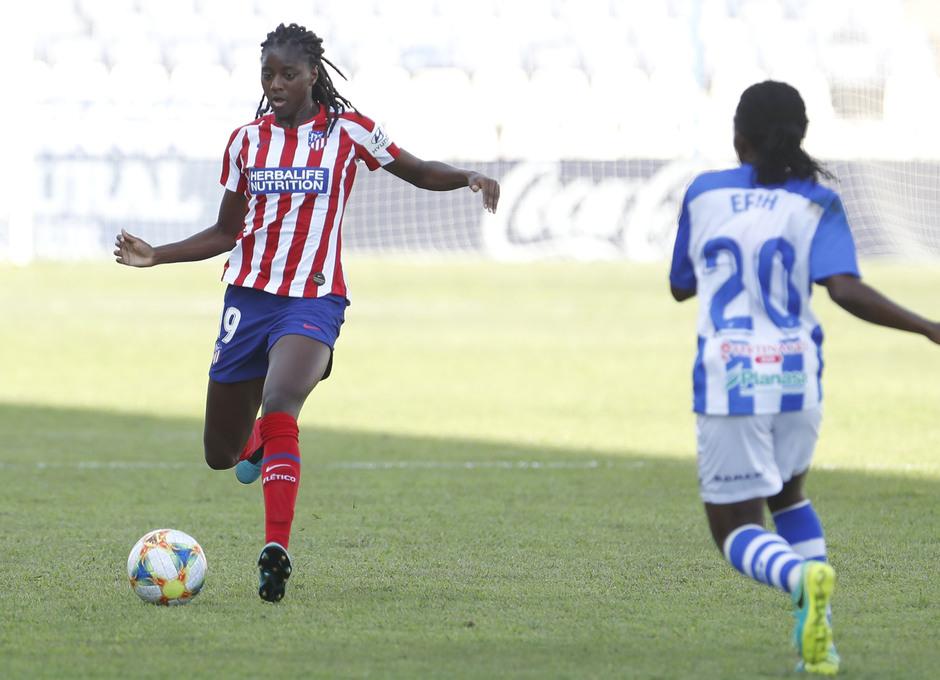 Temp. 19/20. Sporting de Huelva - Atlético de Madrid Femenino. Tounkara