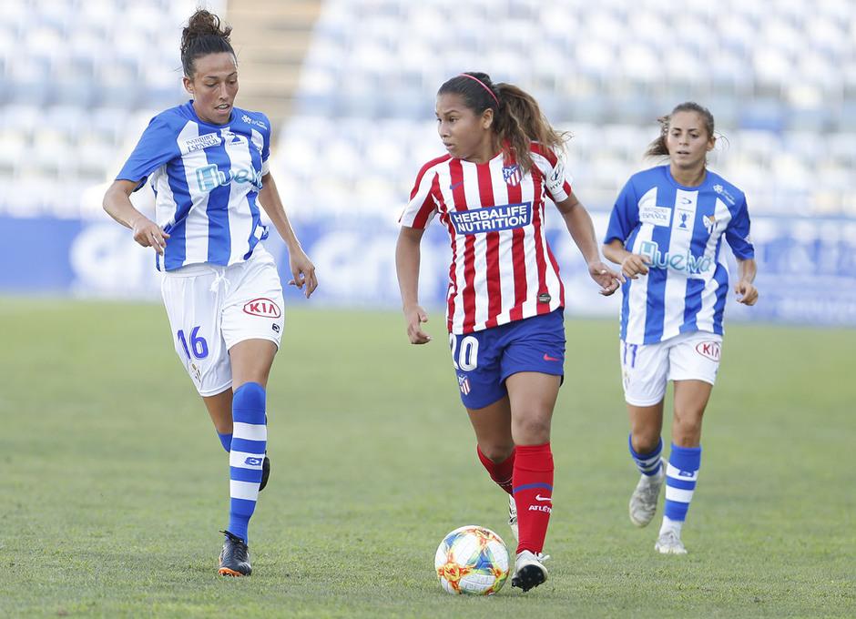 Temp. 19/20. Sporting de Huelva - Atlético de Madrid Femenino. Santos