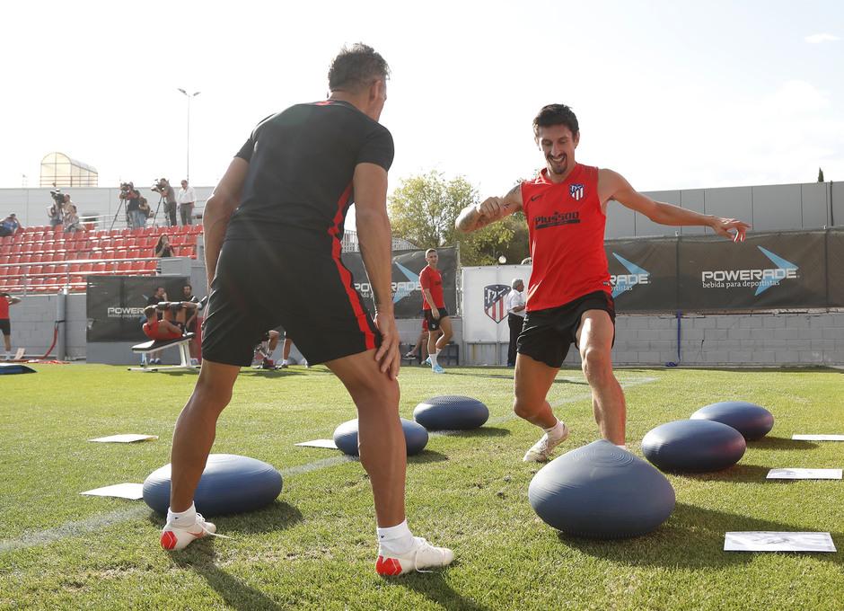 Entrenamiento en la Ciudad deportiva Wanda Atlético de Madrid 12-09-2019. Savic.