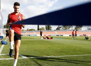 Entrenamiento en la Ciudad deportiva Wanda Atlético de Madrid 12-09-2019. Hermoso.