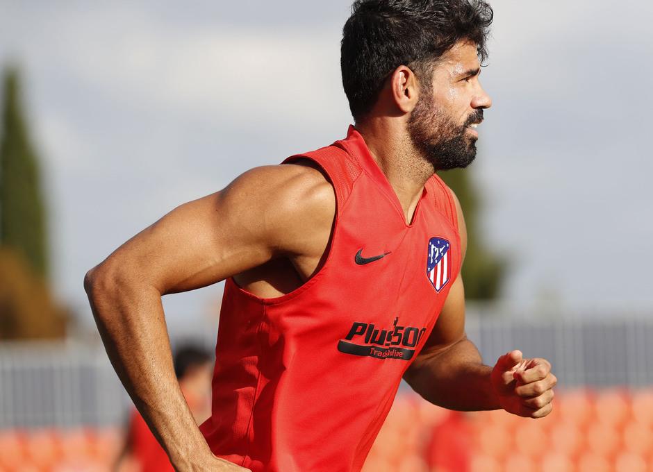 Entrenamiento en la Ciudad deportiva Wanda Atlético de Madrid 12-09-2019. costa.