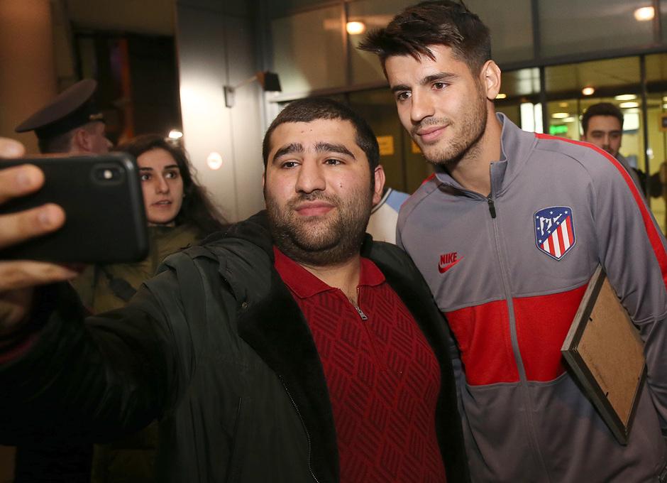 Temporada 19/20 | Lokomotiv - Atlético de Madrid | Llegada | Morata