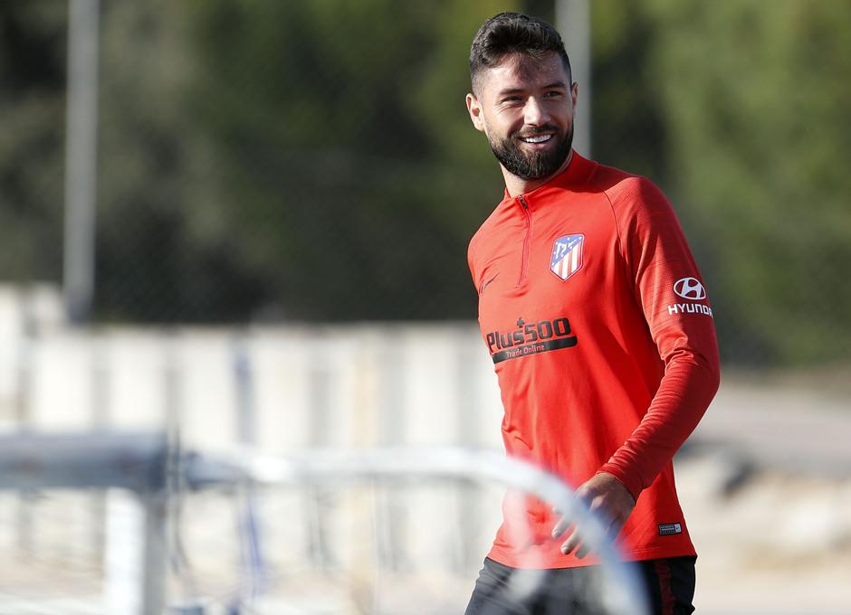 Entrenamiento en la Ciudad deportiva Wanda Atlético de Madrid 15-10-2019. Felipe.