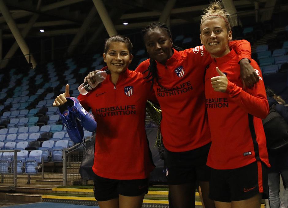 Temp. 19-20 | Entrenamiento en el Academy Stadium | Atlético de Madrid Femenino | Ana Marcos, Tounkara, Menayo