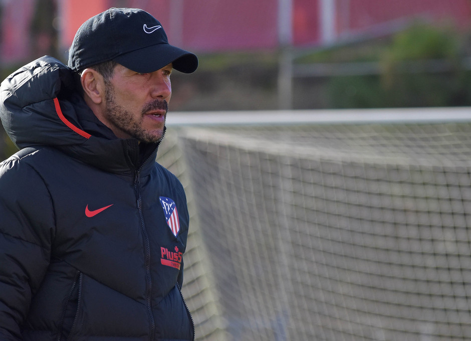 Temporada 19/20 Entrenamiento Primer Equipo. Simeone