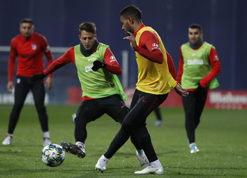 Entrenamiento en la Ciudad deportiva Wanda Atlético de Madrid 04-11-2019. Lodi.