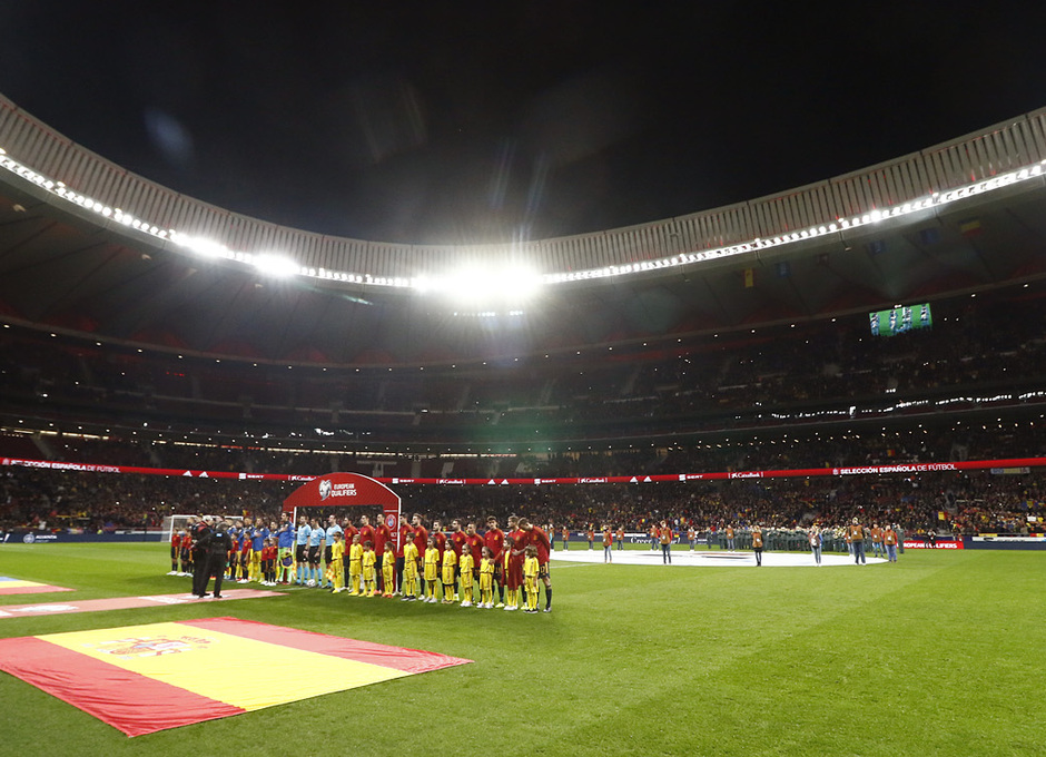 Temporada 19/20. España-Rumanía en el Wanda Metropolitano.