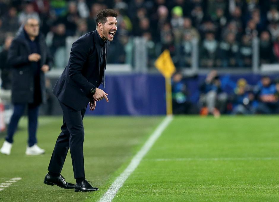 Temp. 19/20. Liga de Campeones. Juventus-Atlético de Madrid. Simeone