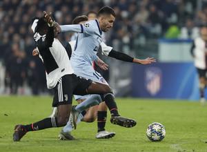 Temp. 19/20. Liga de Campeones. Juventus-Atlético de Madrid. Correa
