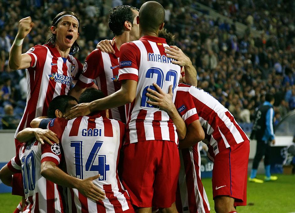 Temporada 13/14 UEFA Champions League. Partido Oporto - Atlético de Madrid.
