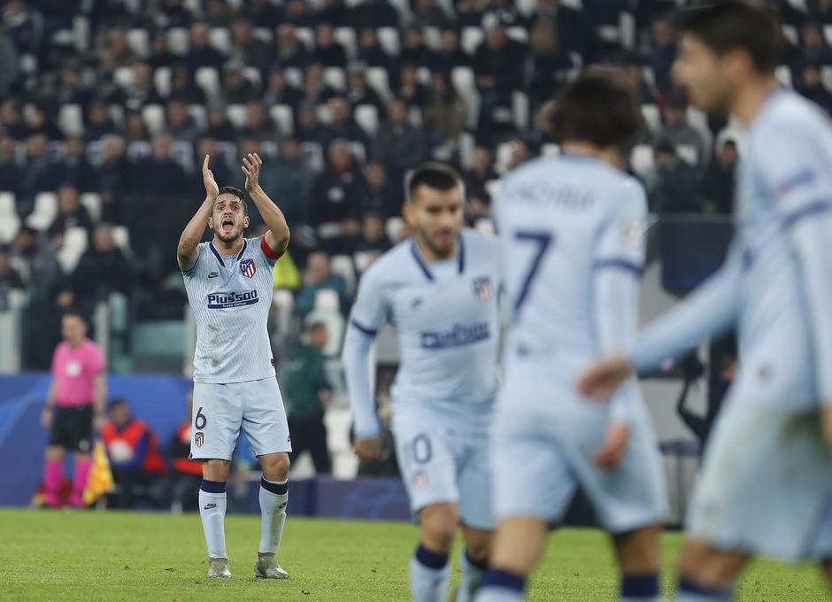 Temp. 19/20. Liga de Campeones. Juventus-Atlético de Madrid. Koke