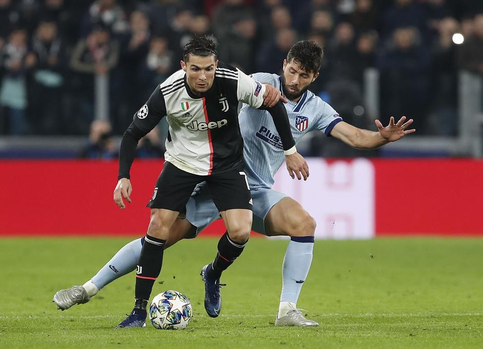 Temp. 19/20. Liga de Campeones. Juventus-Atlético de Madrid. Felipe