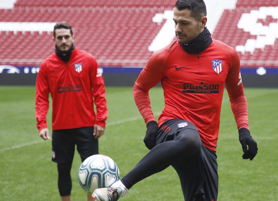 Temporada 19/20 | Entrenamiento en el Wanda Metropolitano | Vitolo y Koke