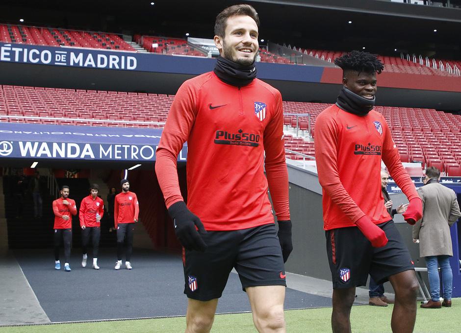Temporada 19/20 | Entrenamiento en el Wanda Metropolitano | Saúl y Thomas