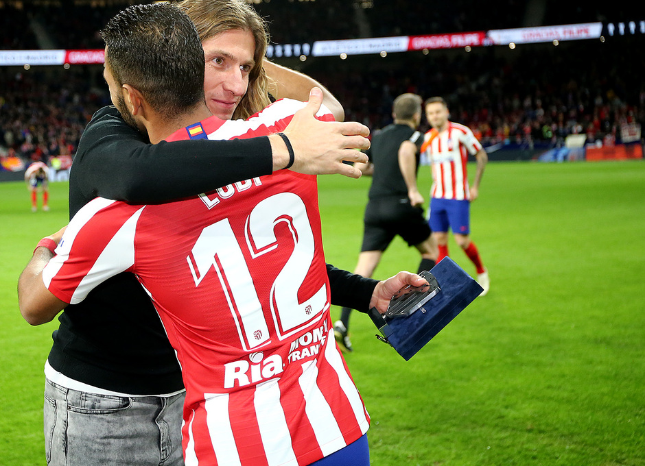Temporada 19/20. Atleti - Levante | Homenaje Filipe y Lodi