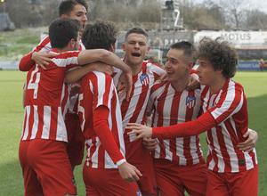 Temp. 19-20 | UEFA Youth League | Rangers - Atlético de Madrid | Celebración Lama