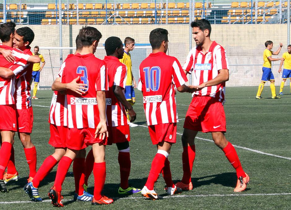 Temporada 13/14. Partido Alcorcón B Atlético C. Celebración