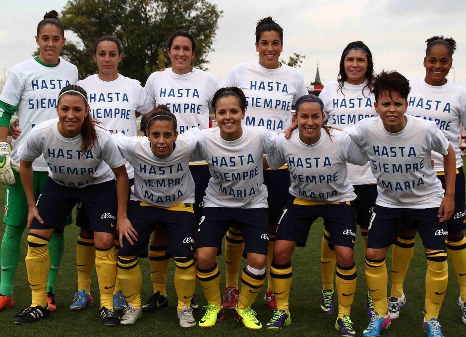 Temporada 2013-2014. Once del Féminas ante el Rayo Vallecano