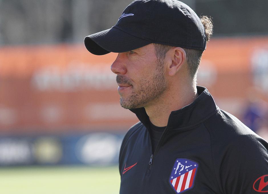 Temporada 19/20 | Entrenamiento del primer equipo en la Ciudad Deportiva Wanda | 24/02/2020 | Simeone