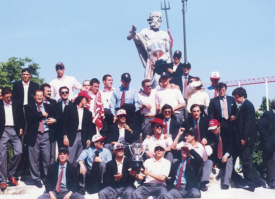 Radomir Antic y Solozabal | Celebración Copa y Liga 1995-96 en Neptuno