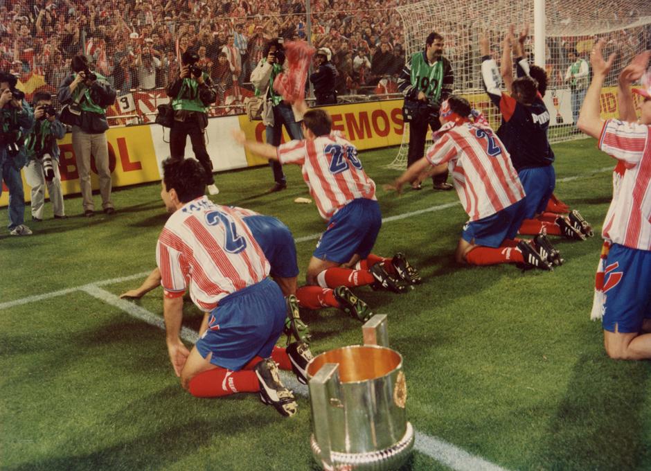 Final Copa del Rey 1996   Atlético de Madrid - FC Barcelona   Celebración Copa