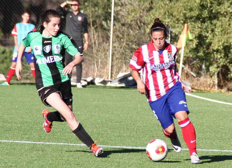 Temporada 2013-2014. Nagore durante el partido ante el Oviedo