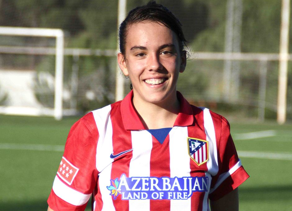 Temporada 2013-2014. Tras el partido a Laura Ortega no se le borraba la sonrisa