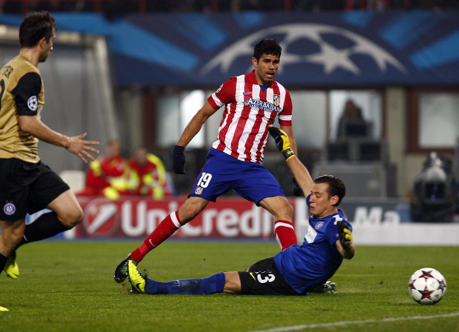 Diego Costa debuta en Champions con la camiseta rojiblanca